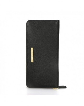 Genuine Leather Zipper Wallet Blocking