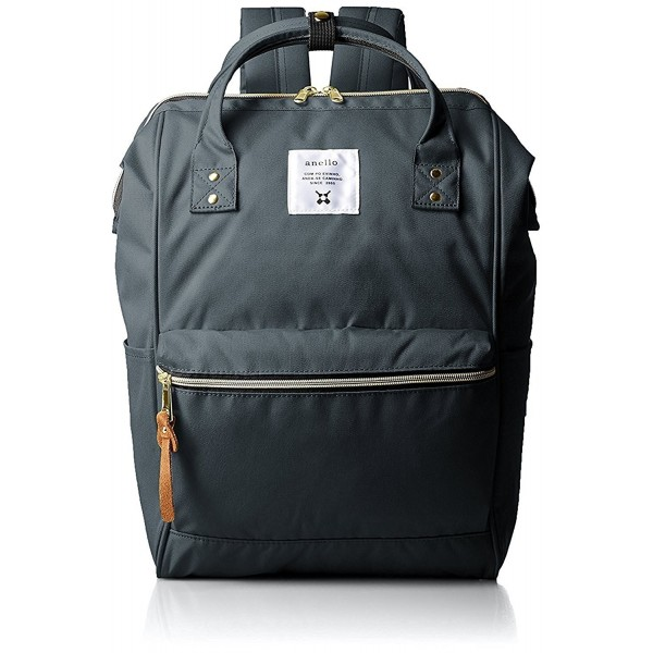 Anello Polyester Canvas Backpacks Charcoal