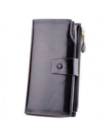 Aojiao Leather Wallets Blocking Clutch