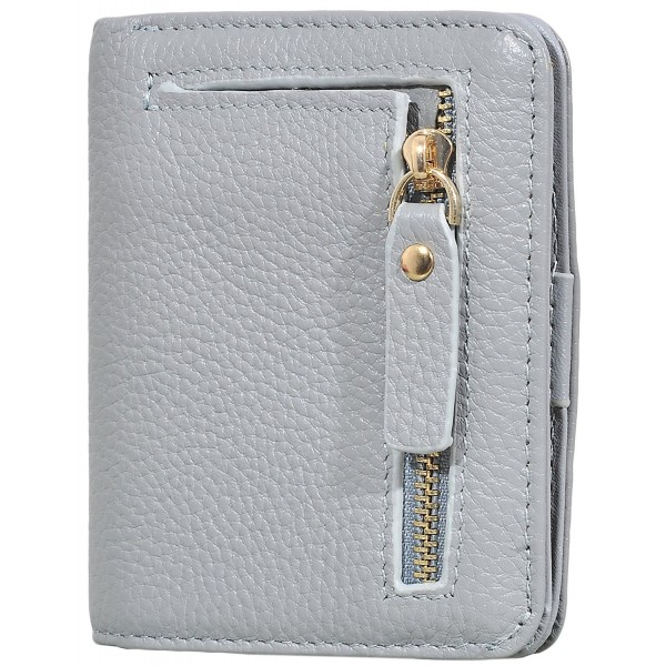 Easyoulife Womens Compact Genuine Leather
