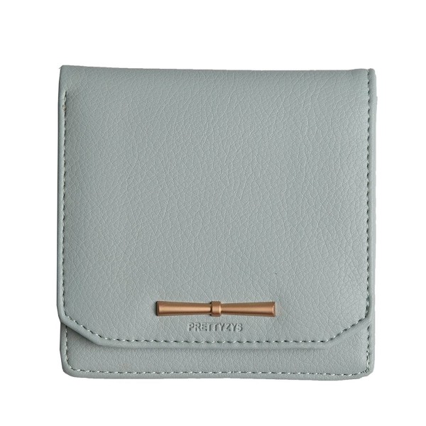 3e954a7113d3 Prettyzys Small Wallet Women Zipper Coin Purse Credit Card Holders Leather  Slim Purse For girls - Light Green - CG1839E3M0S