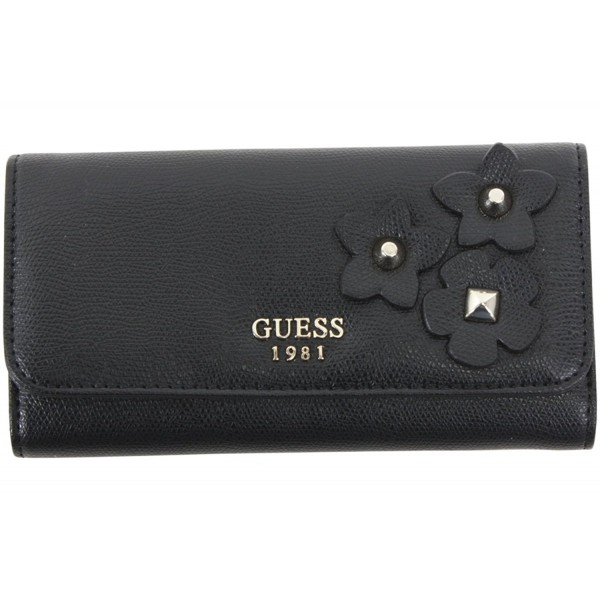 Womens Leather Studded Clutch Wallet