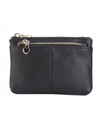 ZORESS Genuine Leather Triple Zipper