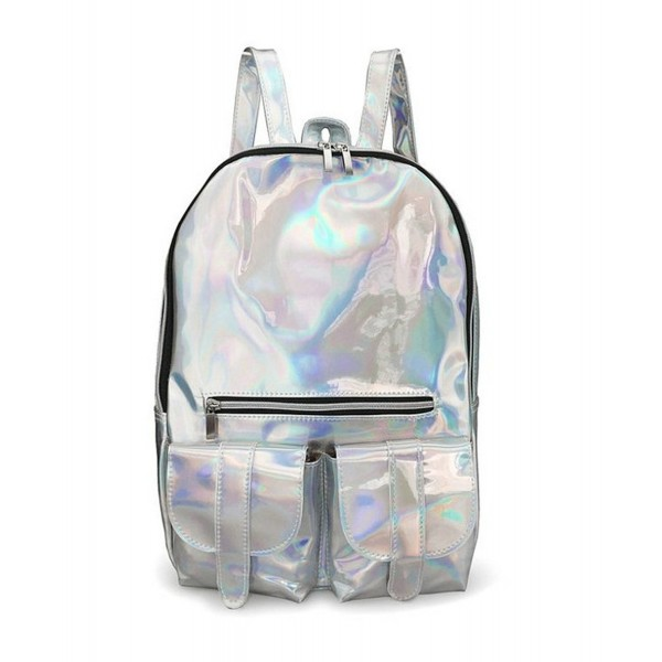 Hologram Backpacks Reflective Surface Backpack