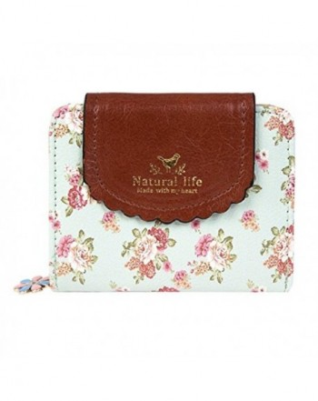 Clearance Womens Wallet Floral Leather