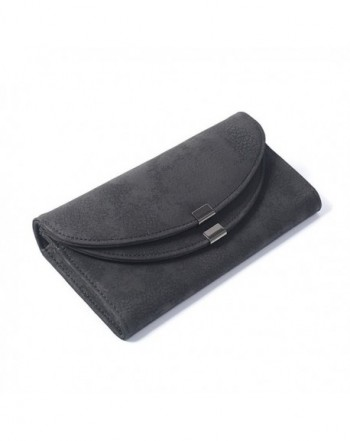 JUMENG Wallet Leather Trifold Holders