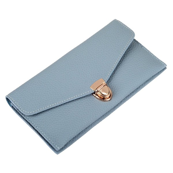cad150068244 RFID Blocking Wallet Ladies Luxury Leather Clutch Travel Purse for ...