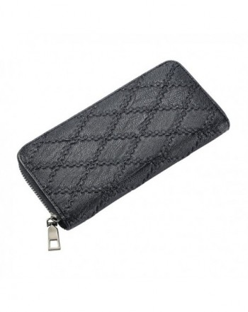 Around Leather Clutch Handbag Wallet