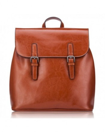 Genuine Leather Backpack Travelling Vintage