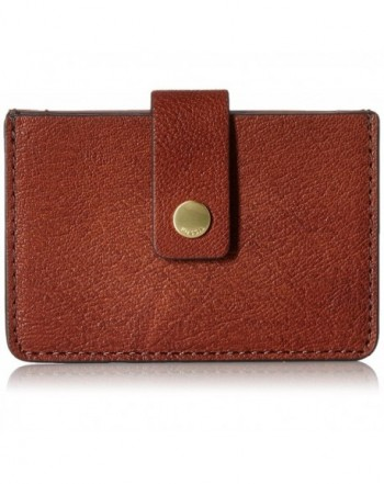 Fossil Mini Wallet Brown Size