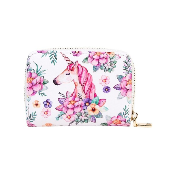OURBAG Cartoon Accordion Leather Unicorn