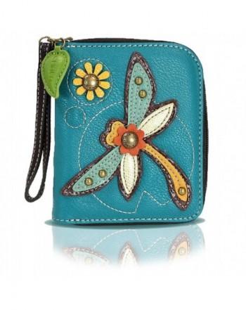 Around Wallet Wristlet Credit Leather