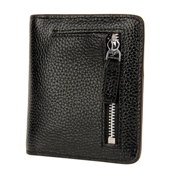 Yafeige Blocking Compact Bi fold Leather
