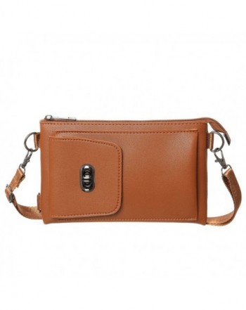Small Crossbody Synthetic Leather Wallet