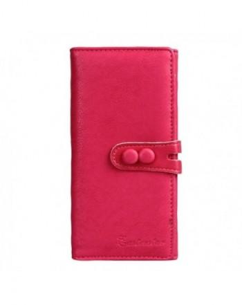 Womens Bi fold Button Clutch Wallet