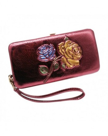 Womens Clutch Wallet Wristlet Colored