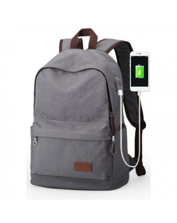 Upoalker Canvas Backpack School Daypack