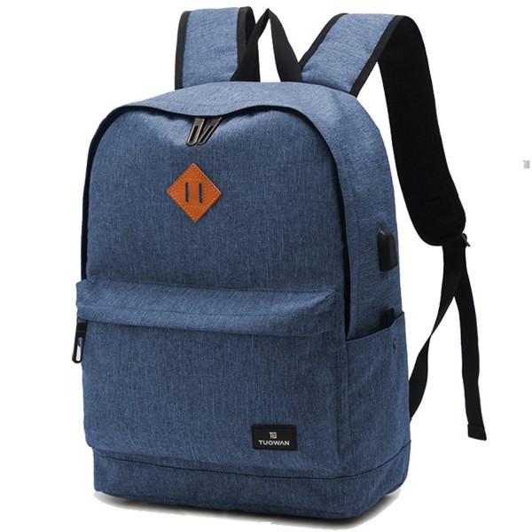 e5f437d60925 Durable Lightweight School Backpacks Laptop Travel Bags - Blue - CA12O6DCW3R