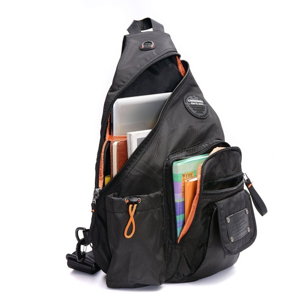 19054ca8e4 ... Sling Bags Chest Pack One Shoulder Crossbody Backpack Book Bag For  School Hiking Travel - Grid black - CT12IUF5OF9. DDDH 13 3 Inch Riding  Shoulder ...