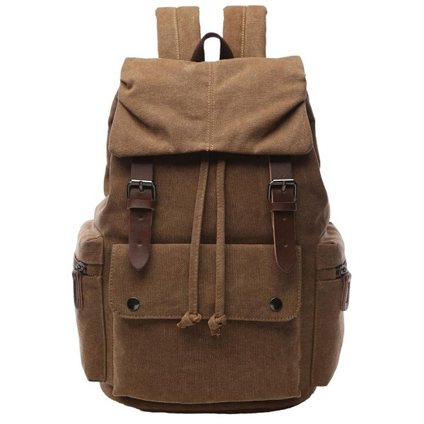 Yousu Vintage Canvas Backpack Rucksack