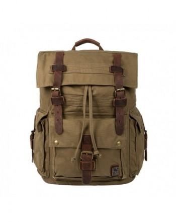 Vintage Canvas Backpack Hiking Daypacks