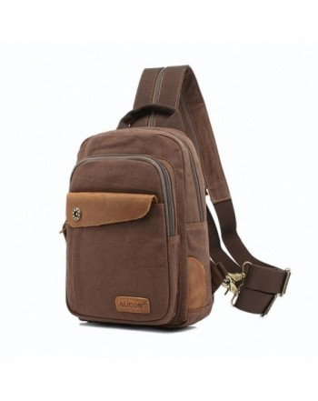 bdee5ca9cdba Mini Backpack PurseCanvas Sling Rucksack Small Backpack - Coffee ...