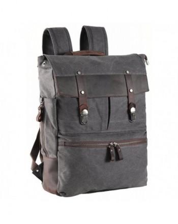 ZEKAR Leather Backpack Vintage Rucksack