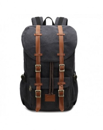 Canvas Laptop School Backpack Daypack