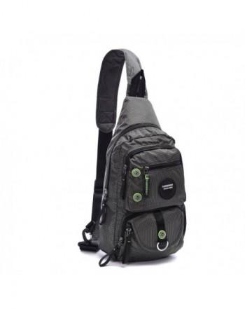 703605c9c1b0 Sling Bag Crossbody Shoulder Pack Casual Daypack Chest Shoulder Bag for  11.6-Inch Laptop iPad Mens Women - Gray2 - CE1825ELRHY