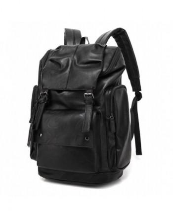 BAOSHA Leather Backpack College Daypack