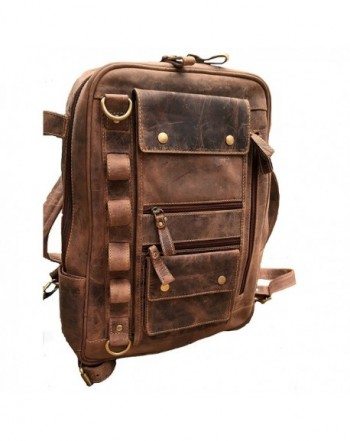 Leather Backpack Vintage Shoulder Rucksack