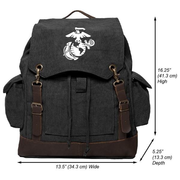 Marine Semper Fidelis Rucksack Leather