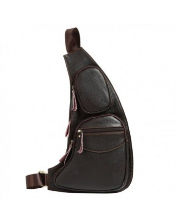 Leathario Crossbody Shoulder Multipurpose Backpack