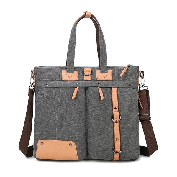 Hybrid Canvas Backpack Briefcase Messenger Bag For Up To 15 6 Inch Laptop Dark Grey Cx185w23ln9