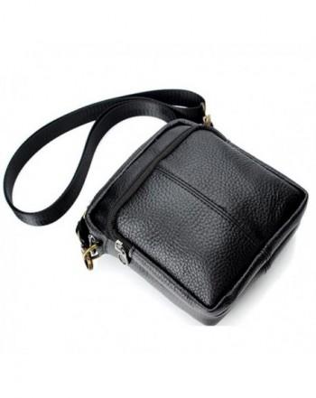 Genuine Leather Shoulder Briefcase Business