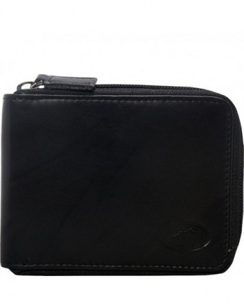 Mancini Leather Goods Zippered Removable