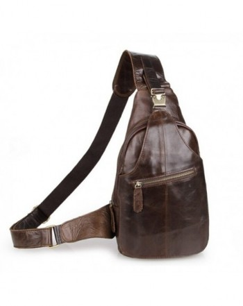 SEALINF Leather Outdoor Chest Backpack