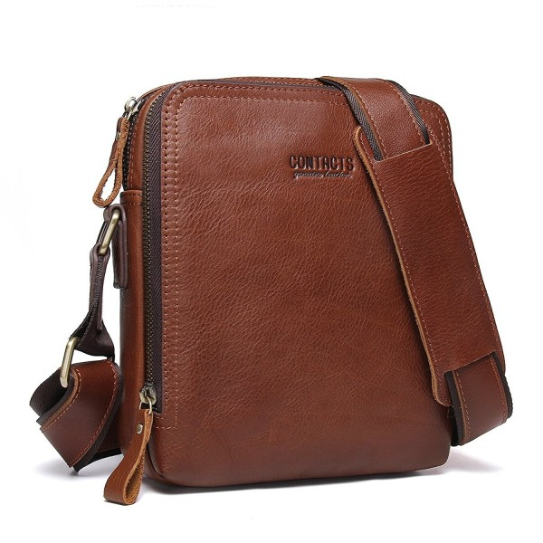 Contacts Genuine Leather Messenger CrossBody