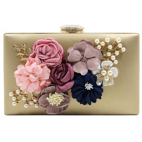 Gazigo Women Clutches Handbags Gold