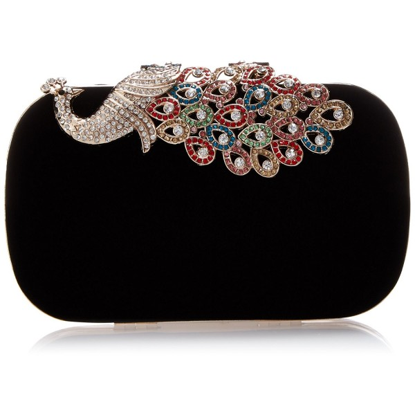 BMC Elegant Rhinestone Cocktail Handbag BLACK