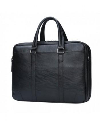 Briefcase Leather Messenger Business Men%EF%BC%88Black