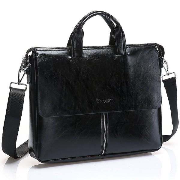 JOYSON Leather Briefcase Shoulder Handbag