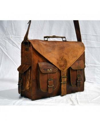 messenger briefcase computer shoulder distressed