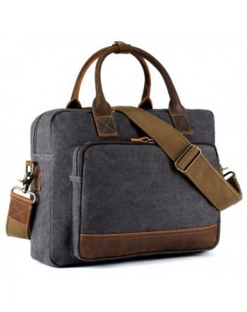 Kattee Canvas Briefcase Handbag Shoulder