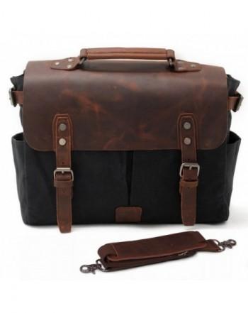 SUVOM Messenger Leather Briefcase Bookbag