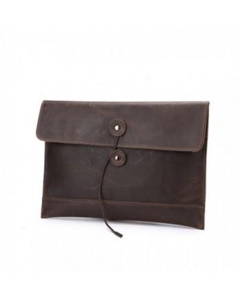 Morrivoe Leather Clutch Portfolio MacBook
