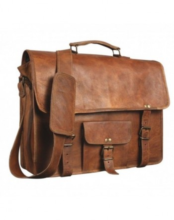 Leather Genuine Messenger Briefcase Satchel