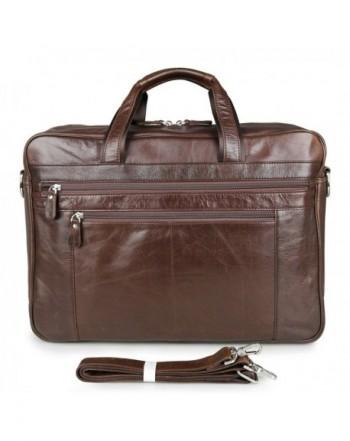 Leather Briefcase Vintage Shoulder Messenger
