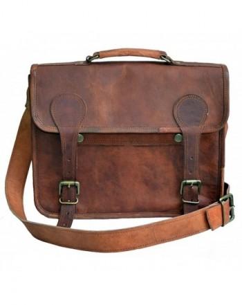 Genuine Leather messenger shoulder briefcase