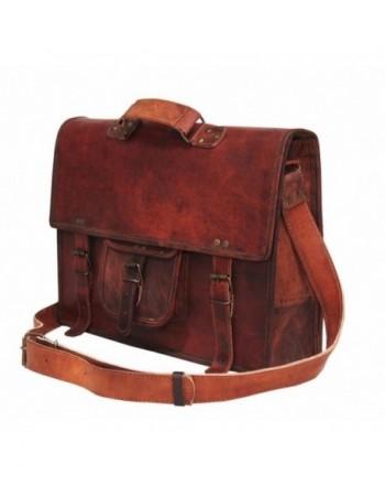 Handolederco vintage briefcase shoulder messenger